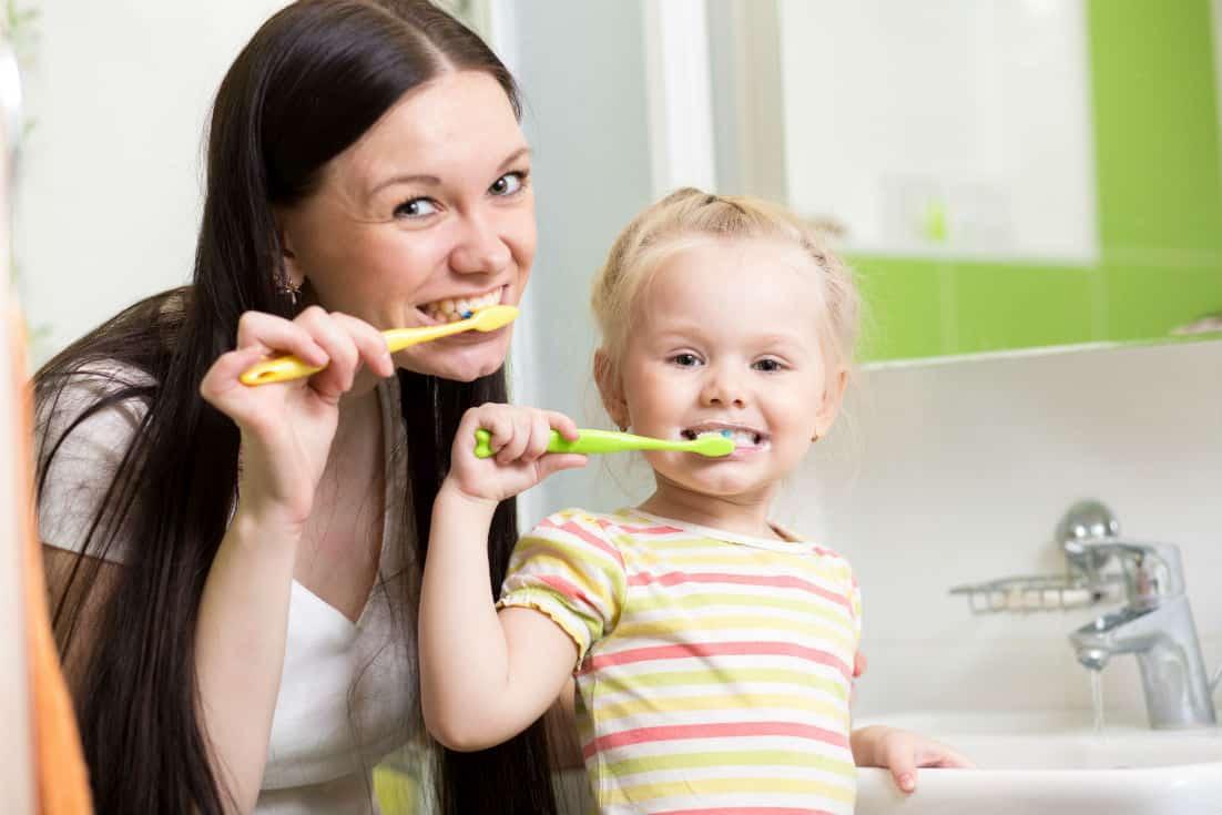 Kids Brushing Teeth Burke VA